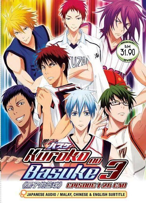 Dvd Anime Kuroko S Basketball Season 3 Vol 1 26end Kuroko No Basuke English Sub Fond D Ecran Dessin Dessins D Anime Kuroko