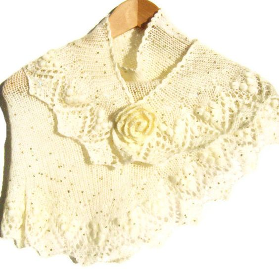 lace knit shawl. Bridesmade gift. Payette by ATLASKNITSHOP on Etsy, $79.00