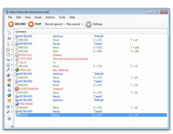 "Jitbit Macro Recorder - is an ""Automator for Windows""."