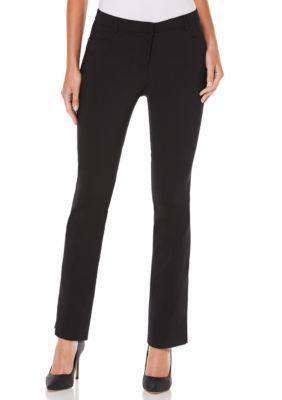 Rafaella  Petite Size Solid Satin Twill Pants