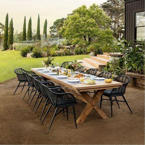 アウトドア ガーデン テーブル 素材 チーク イメージ