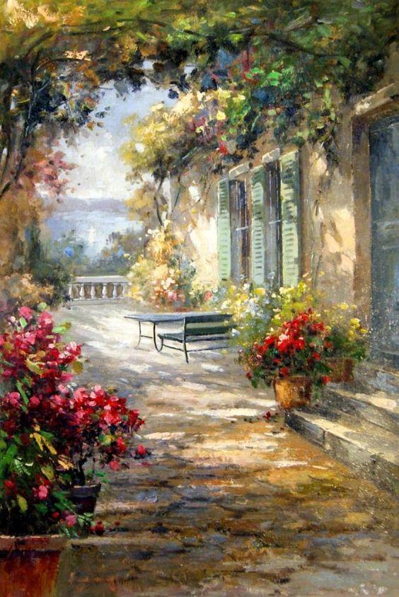 Imagen: Jardín. Autor Sergey Minaev: