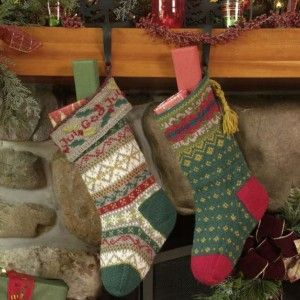 knit christmas stockings at countrywool