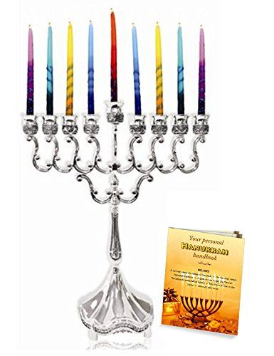 "Silver Plated Hanukkah Candle Menorah 6.5"" x 8.5"" with Menorah Lighting Guide! >>> LEARN MORE @ http://www.laminatepanel.com/store/silver-plated-hanukkah-candle-menorah-6-5-x-8-5-with-menorah-lighting-guide/?a=2817"