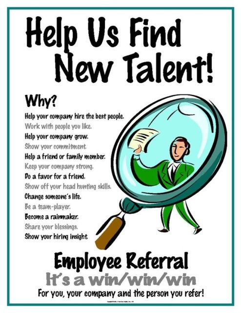 Help Us Find New Talent Poster 145 Referrals Job Fair Inspire Employees
