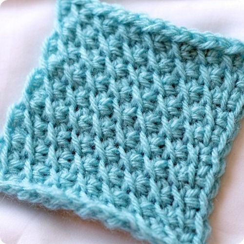 tunisian crochet- bias stitch