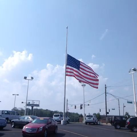 The Flag is Half Mast today.