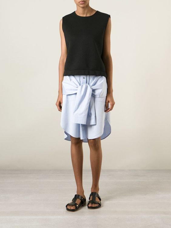 T By Alexander Wang Sleeve Ties Skirt - Ottodisanpietro - Farfetch.com 296,00 €