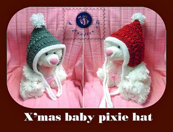 Crochet Pattern Baby Pixie Hat : Christmas baby, Hats and Crochet on Pinterest