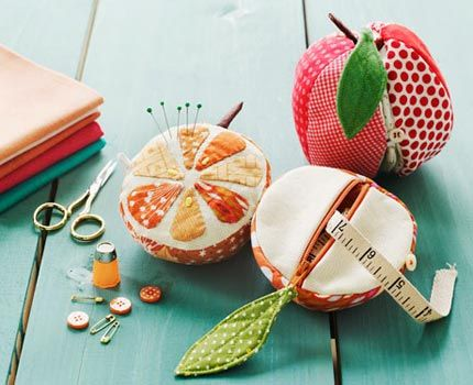 Pincushions and pouches