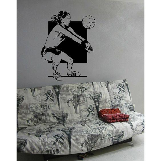 Sport volleyball sportswoman Wall Art Sticker Decal