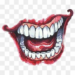 Joker Sticker By Quantumfinanse Joker Smile Hand Attoo Hd Png Download Coringa Tattoo Tatuagens Do Coringa Mascara Desenho