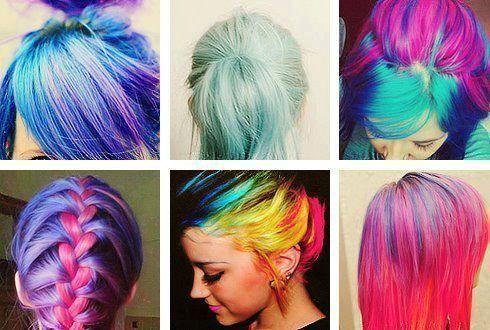 Bright Rainbow Hair Tumblr