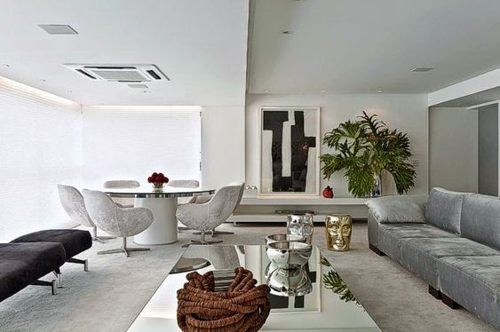 20 Varandas/sacadas integradas às salas – veja dicas e inspirações para apartamento! - Decor Salteado - Blog de Decoração e Arquitetura
