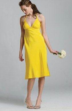 Sleeveless Spaghetti Straps Sheath Knee-length Bridesmaid #Dress $74