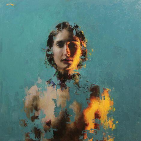 "Mia Bergeron, ""Resolved"" 24""x24"" oil on panel. Available through Gallery 1261 , Denver, CO. on ArtStack #mia-bergeron #art"
