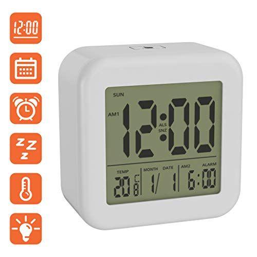 bonVIVO Digi Morning Réveil Numérique Cube Réveil Digital