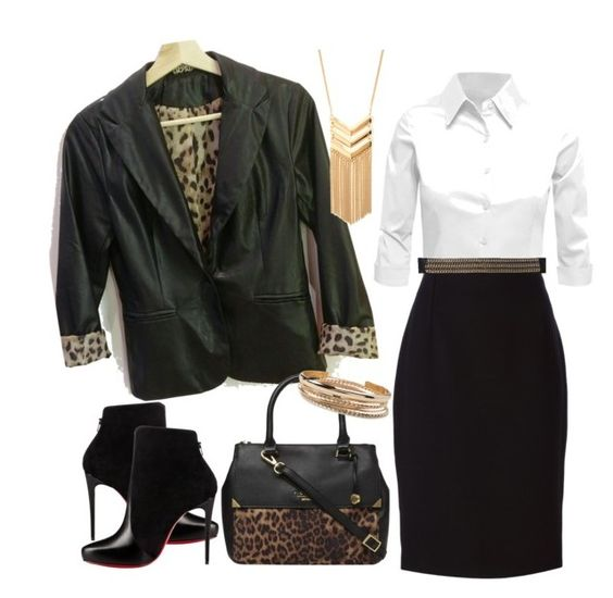 """""""Untitled #37"""" by reginaivonne on Polyvore featuring Christian Louboutin, LE3NO, Versace, Fiorelli and Forever 21"""