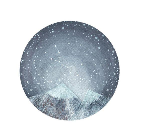Constelación arte fine art print-Tauro y el por elisemahanfineart
