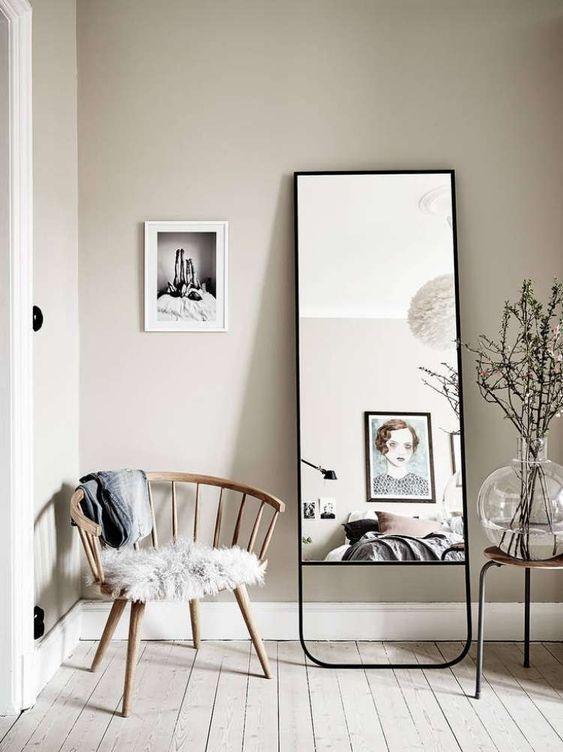 20 Wonder Photos Full Length Mirrors Interiordesignshome Com White Dining Room Decor Home Decor Scandinavian Interior Design