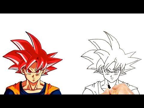 How To Draw Goku Ssj God Red Very Easy Dragonball كيف ترسم غوكو سوبر سايان غود الاحمر للمبتدئين Youtube In 2021 Drawing Tutorial Drawings Okay Gesture