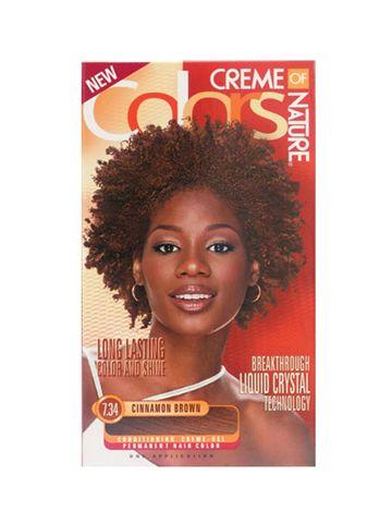 coloration cinnamon brown 734 creme of nature dcouvrez lharmonie entre la nature - Coloration La Rich