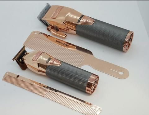 Babyliss Pro Rose Gold Clipper Trimmer Comb Bundle Universal Barber Hair Clippers Shaving Tools Clippers Trimmers