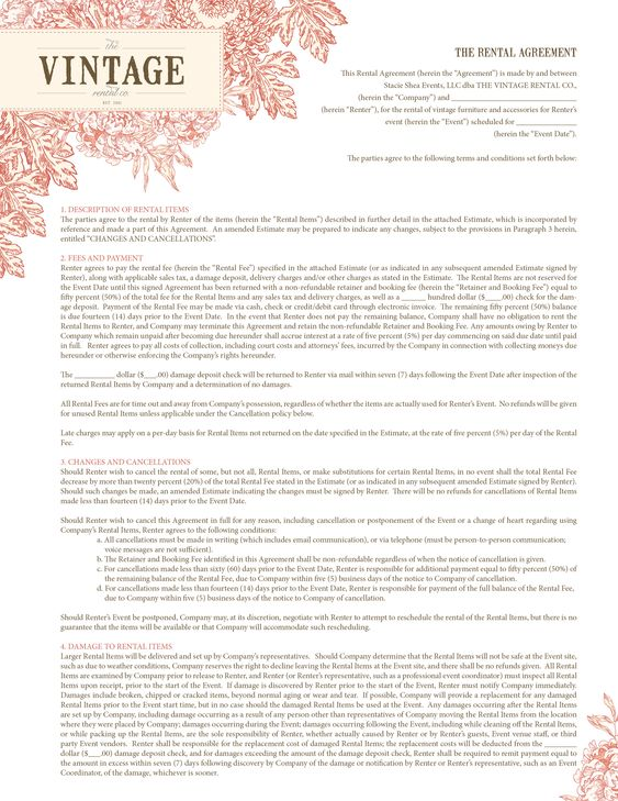 Interior Design Contract Template -    newthailove - interior design contract template