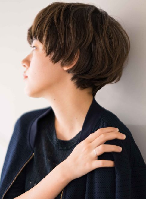 大人可愛い骨格美ハンサムマッシュショート 髪型ショートヘア ヘア