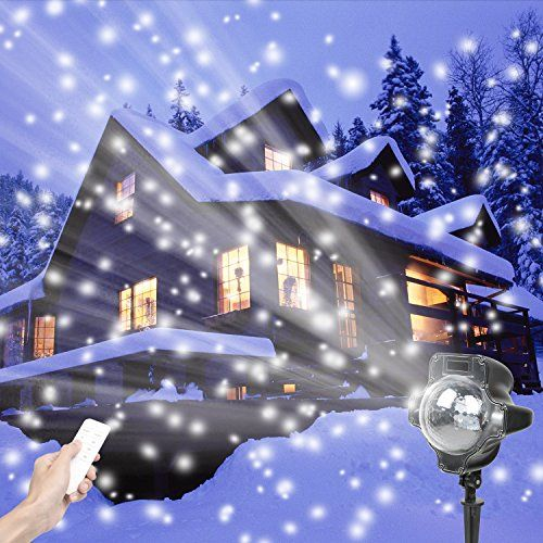 Led Christmas Lights Projectorsnowflake Rotating Light Projector
