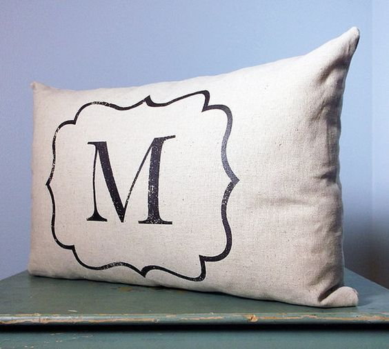 Personalized Monogrammed Pillow Initial Pillow by DolceHome
