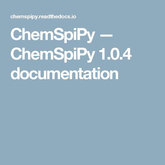 ChemSpiPy — ChemSpiPy 1.0.4 documentation
