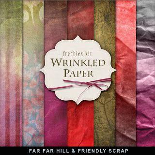 Kit Freebies Fondo - papel arrugado