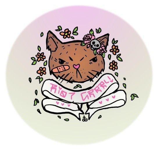 Riot grrrl kitty