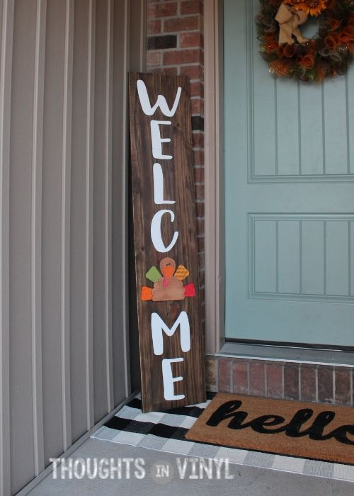 Turkey Insert Front Porch Signs Porch Signs Welcome Letters
