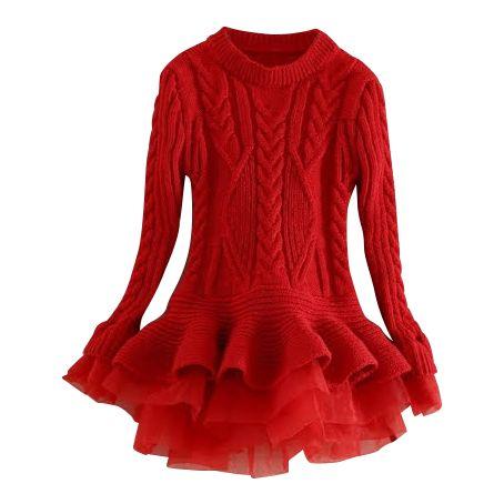 Nonna Bambini - BlueBell Little Girl&39s Sweater Dress Red $43.00 ...