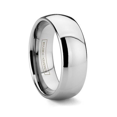 MODERNO 8MM   This style is our most popular band! This classic comfort-fit domed wedding band now comes in tungsten carbide. Unlike other tungsten rings online, our Tungsten Forever
