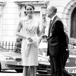 Catherine attending the UK Creative Industries Reception in a grey dress by London designer Roksanda Ilincic 7/30/12. #Kate #Middleton