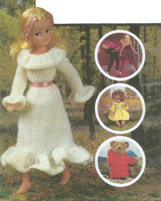 Doll Clothes Knitting Pattern Book Fashion and Baby by dianeh5091