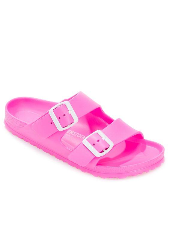 Sandália Feminina Arizona Neon - Birkenstock - Rosa - Shop2gether