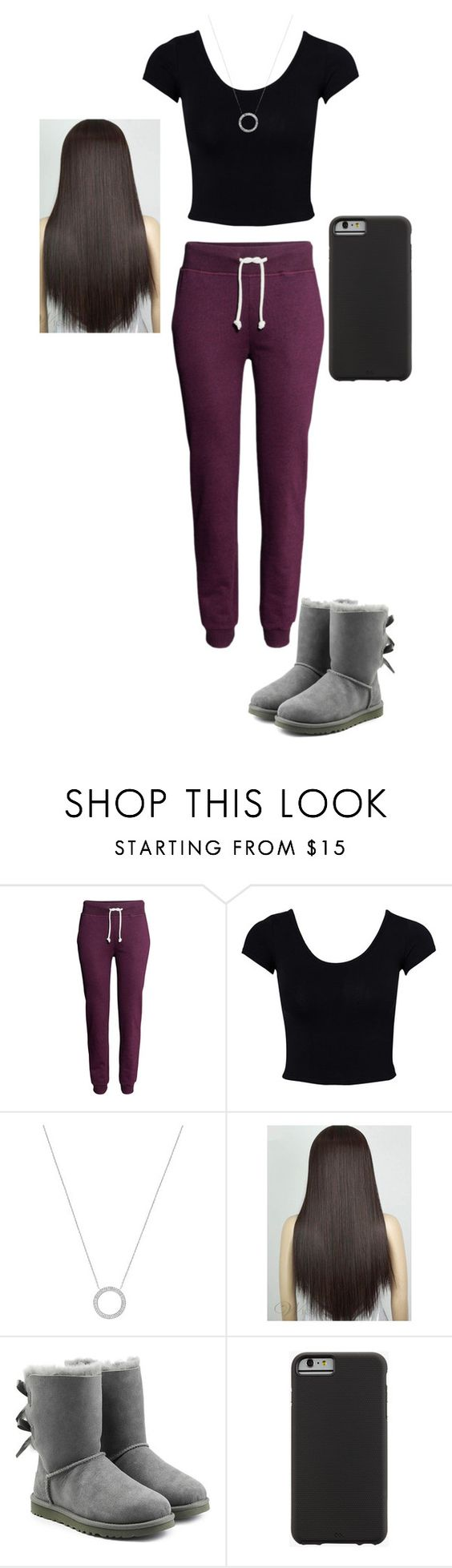 """just an outfit"" by mell-rosee ❤ liked on Polyvore featuring H&M, Estradeur, Michael Kors, UGG Australia and Case-Mate"