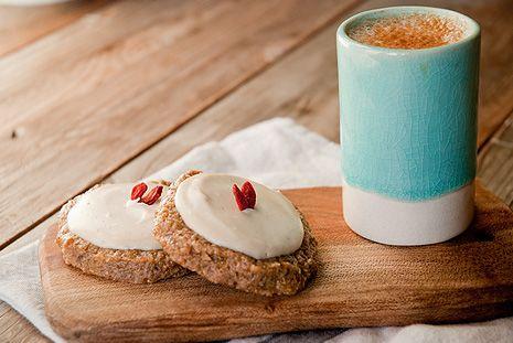 Lalakitchen Galletones de Naranja Confitada con Crema de Chocolate Blanco