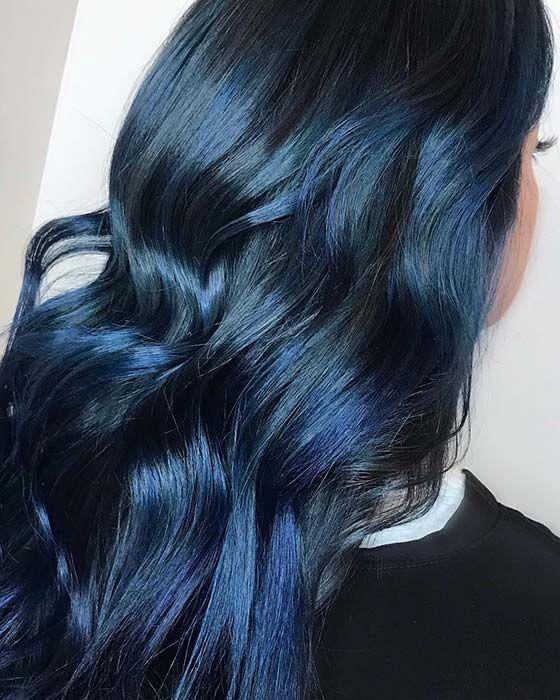 22 Fabulous Blue Black Hair Color Ideas In 2019 Style2 T Hair