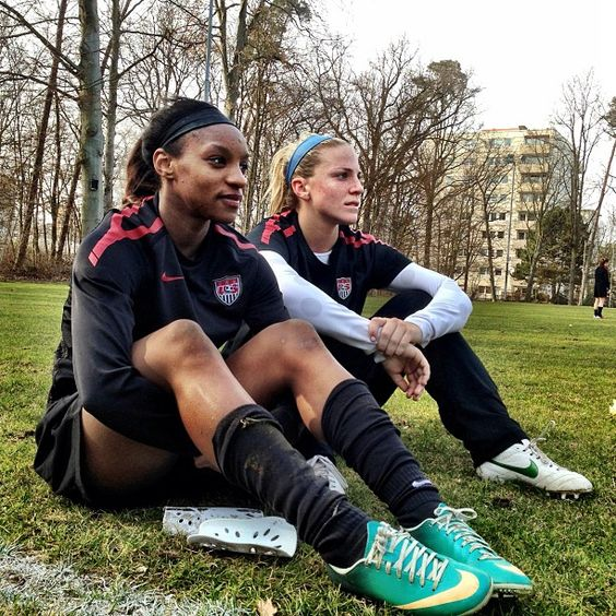 Julie Johnston and crystal dunn