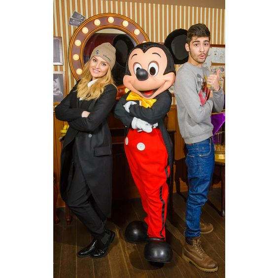 Zayn Malik Celebrates 21st Birthday at Disneyland With Fiancée Perrie... ❤ liked on Polyvore featuring one direction, 1d, little mix, perrie edwards and zayn malik