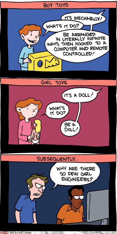 Why are there so few girl engineers?