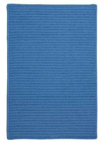 """Simply Home Solids Blue Ice Rug Rug Size: 9' x 12' by Colonial Mills. $607.99. H870R108X144S Rug Size: 9' x 12' Features: -Technique: Braided.-Material: 100pct Polypropylene.-Origin: USA.-Reversible.-Stain resistant.-Fade resistant. Construction: -Construction: Hand guided. Dimensions: -Pile height: 0.5"""".-Overall Dimensions: 34-168'' Height x 22-132'' Width x 0.5'' Depth. Collection: -Collection: Simply Home Solid."""