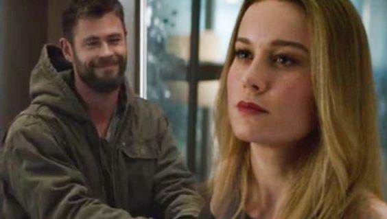 Captain Marvel and Thor share a hilariously flirty scene in Avengers: Endgame trailer