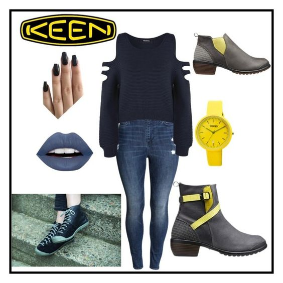 """""""So Fresh and So Keen: Contest Entry"""" by louiseabunn ❤ liked on Polyvore featuring H&M, WearAll, LunatiCK Cosmetic Labs, Keen Footwear, Crayo and keen"""