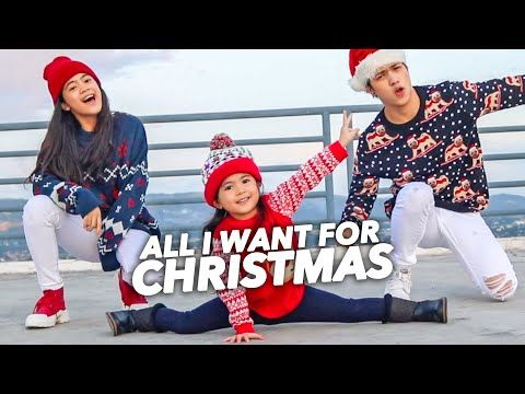 All I Want For Christmas Siblings Dance Ranz And Niana Ft Natalia Youtube In 2020 Natalia All I Want Things I Want